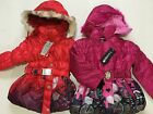 BNWT Girls Winter Scene Coats in Red or Pink at Clearance Price Ages 2 & 4