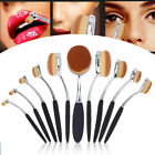 10Pcs PRO Elite Toothbrush Oval Make up Brushes Set Powder Foundation Contour <br/> Higher Quality!Soft Hair!UK Fast Delivery!Rose Gold!