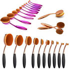 10Pcs Fashion Toothbrush Beauty Eye Face Shaped Oval Makeup Brushes Set Kit