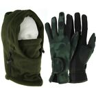 NGT Neoprene Fishing Camo Gloves M L XL+ Green Shooting Hunting Snood Face Guard