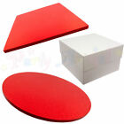 SINGLE Cake Board and White Box Pack - RED - Thick Drum - Wedding & Birthday