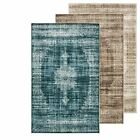Medallion Floor Area Rug Traditional Rug Over-dyed Vintage Carpets Modern Rug