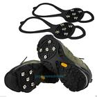 NEW Snow Grip Spike Ice Shoes Anti Slip 5-teeth Climbing Crampons Grippers Black