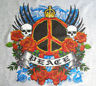 NEW HIPPY GRAFFITTI TSHIRT - Tattoo Peace Design