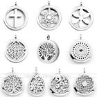 30mm Stainless Steel Aromatherapy Essential Oil Diffuser Locket Pendant Necklace