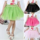 Kids Girls Tutu Princess Party Ballet Dance Wear Dress Mesh Costume Skirt 3-7Y