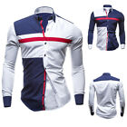 Stylish Mens Long Sleeve T Shirt Casual Slim Fit Party Dress Shirts Business Top