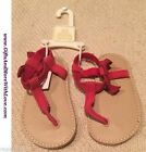 Baby Gap NWT Red SUEDE LEATHER BOW SANDAL DRESS SLIP ON SHOES 3 6 9 12 18 24 M