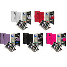 For Htc One Max T6 Phone Color Wallet Pouch Case Cover Holder With Id Slots