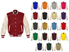 Genuine Leather Sleeve Letterman College Varsity Women Wool Jackets #CRS-WSTR-WB