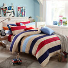 Striped Duvet Doona Quilt Cover Set Queen Single King Size Bed PillowCases Set