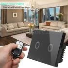 1/2/3 Gang 1Way Crystal Glass Smart Dimmer Touch Switch Panel Control Home Light