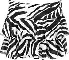 New Womens Short Zebra Animal Black White Print Rara Ladies Mini Skirt