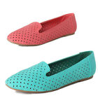 TheMogan Lilo Perforated Suede Loafers Casual Cool Slip On Flats