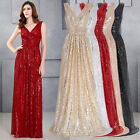 Bling Sequins NEW Formal Evening Party Ball Gown Prom Long Wedding PAGEANT Dress