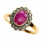 9ct Solid Gold Ruby & Diamond Victorian Insp. Ring R316A Custom