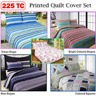 225 TC Printed Quilt Doona Duvet Cover Set SINGLE DOUBLE QUEEN KING