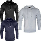 Mens Designer Stitch Detail Zip Pocket Pullover Hoody Jersey Top Size
