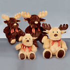 CUDDLY CHRISTMAS REINDEER TOYS - STUFFED PLUSH TEDDY - CREAM & BROWN COLOURS