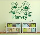 Kids UFO Space Alien Personalised Any Name Bedroom Wall Art Mural Decal Sticker