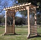 BRAND NEW COLONIAL STYLE CEDAR WOOD GARDEN ARBOR PERGOLA ARCH WITH 6 FT OPENING