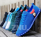 Fashion New Mens Flats Casual Mesh Sneakers Breathable Loafer Shoes lace up USA