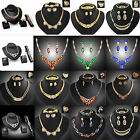 CHIC Fashion Women Rhinestone Necklace Bracelet Earrings Ring Jewelry Charm Set