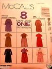 McCall's 8406 Misses 8 Looks Dress Pattern MANY SIZES OOP VINTAGE UNCUT