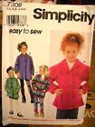Simplicity 7308 Girls Set of Jackets Pattern MANY SIZES OOP VINTAGE