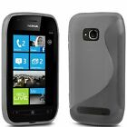 S Line Silicone Gel Case Cover & Screen Protector For Nokia Lumia 800