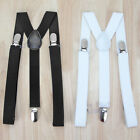 Mens Suspenders Braces Elastic Strong Adjustable Formal Wedding Unisex Back Clip