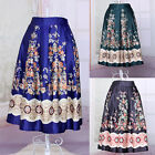 New Vintage High Waist A-line Ball Gown Midi Pleated Long Swing Skirt Free Size