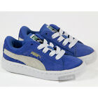 KIDS INFANTS PUMA CASUAL LACE UP BLUE LIGHTWEIGHT TRAINERS SHOES SIZE UK 4