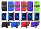 """For Samsung Galaxy Tab A 7.0 / 7"""" Case Cover w/ Tempered Glass Screen Protector"""