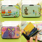 Plastic  Women Business ID Credit Card Holder Owl Cardcase Pocket Wallet Box