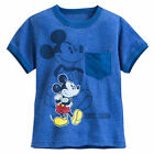 Disney Store Mickey Mouse Heathered Ringer Blue T Shirt Tee Boys Size XL 14