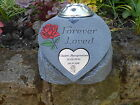 Personalised Memorial Heart and Flowervase Holder and Plaque FOREVER LOVED