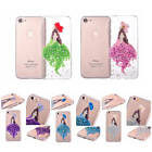 For iPhone True Dried Flower Glitter Mermaid Girl Case TPU Silicone Rubber Cover