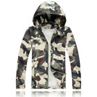 New Fashion Men's Casual Hooded Camouflage Thin Sports Windbreaker shirt 6285