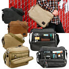 Men's Vintage Canvas Messenger Shoulder Bag Crossbody Sling School Bags Satchel