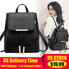 Women Girl Backpack Travel Leather Handbag Rucksack Shoulder School Bag US STOCK