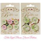 Tilda Apple Bloom fabric cover Flower buttons pack of 6 (17mm) pack of 4 (25mm)