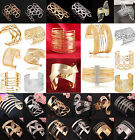 New Fashion Women's Vintage Gold Silver Bangle Punk Cuff Bracelet Jewelry CHIC
