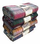 Recycled wool picnic rug travel blanket throw BRITISH MADE Tweedmill 120 x 150cm