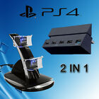 Controller Charger /5 USB Hub Ports/Cooling Fan/Storage Holder Sony Playstaion 4