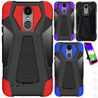 For ZTE Grand X3 Z959 Rubber IMPACT TRI HYBRID Hard Case Skin Phone Cover