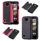 For LG K3 LS450 HARD Rubber IMPACT TRI HYBRID Case Skin Phone Cover Accessory