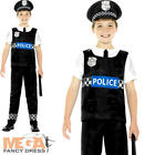 Cop Boys Fancy Dress Policeman Officer Uniform Occupation Kids Childrens Costume