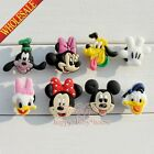 100PCS Mickey Minnie PVC shoe Accessories,shoe charms for Bracelets Croc Gifts