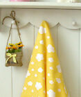 Yellow cloud Cotton Blend Fabric / All sizes / clouds quilting Polycotton fCB047